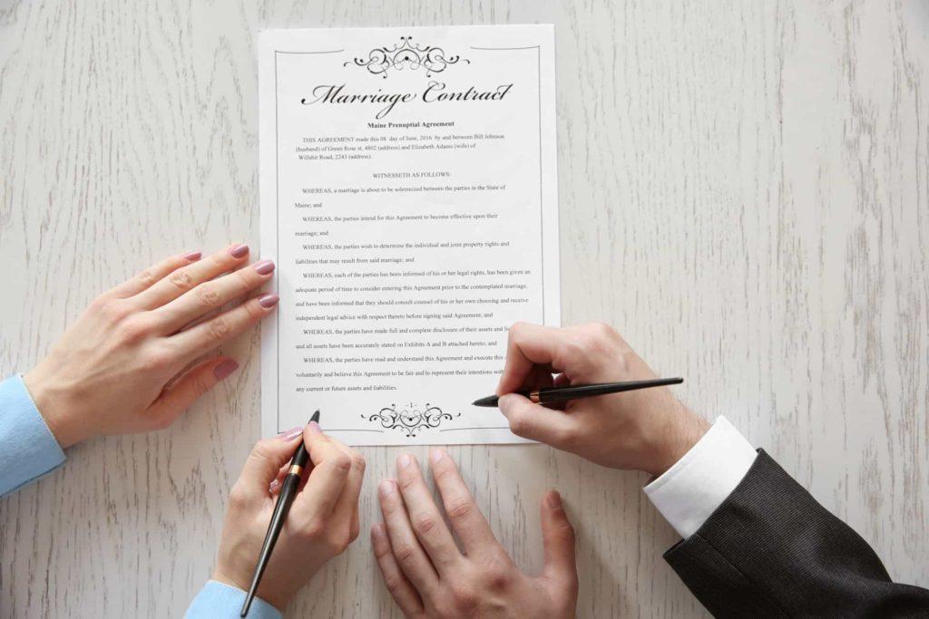 Когда заключается брачный договор